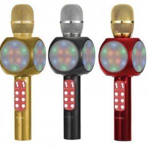 Microfon karaoke Disco LED