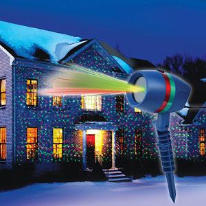 Lumineaza casa in lumini magice de Craciun, proiectorul laser + Cadou
